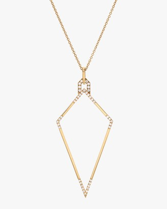 Dru White Diamond Amulet Necklace