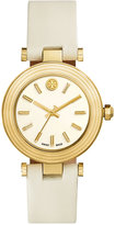 Tory Burch Women's Swiss Classic T Ivory Leather Strap Watch 36mm TRB9000