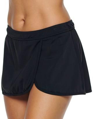 Women's A Shore Fit Hip Minimizer Faux-Wrap Skirtini Bottoms