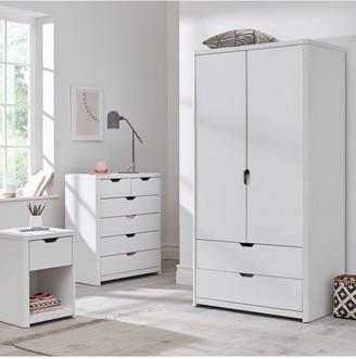 Aspen 1 Drawer Bedside Chest - White Oak Effect