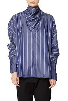 Lee Mathews Goldie Stripe Cowl Neck Shirt