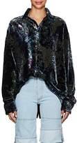 Y/Project Women's Paisley Devoré Velvet Blouse