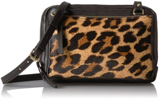 The Fix Amazon Brand Leah Triple Zipper Small Crossbody Bag
