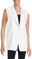 DKNY Sleeveless Notched Vest