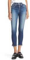 Rag & Bone Women's High Rise Studded Capri Jeans
