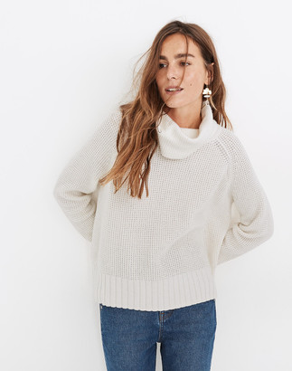 Madewell Eastbrook Turtleneck Cross-Back Sweater in Cotton-Merino Yarn