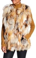 Bagatelle Patched Genuine Fox Fur Vest