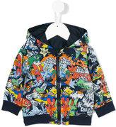 Kenzo Kids X K-Way reversible hooded jacket - kids - Polyamide - 6 mth