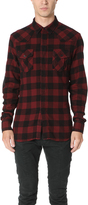 Pierre Balmain Plaid Western Shirt