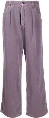 Brunello Cucinelli High-Waisted Wide-Leg Jeans