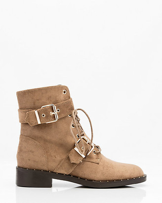 Le Château Round Toe Lace-Up Boot