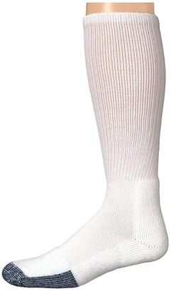 Thorlos Basketball Over Calf Single Pair (White) Knee High Socks Shoes