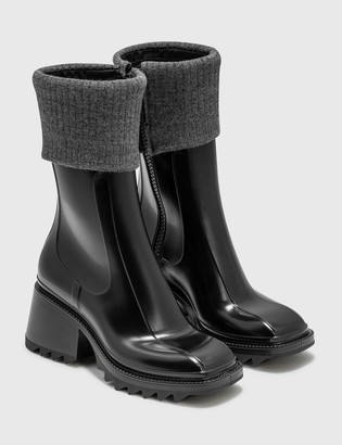 Chloé Betty Rain Boots With Knit