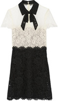 uncategorized  Who made Mel Bs black and white lace short sleeve dress?