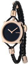 RumbaTime Women's Gramercy Lights Out Analog Display Japanese Quartz Black Watch
