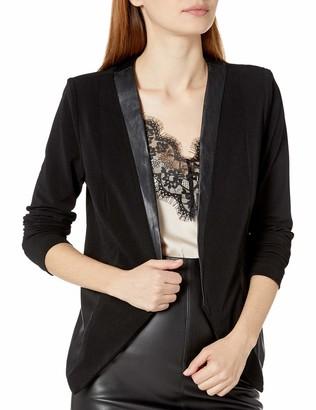 BCBGeneration Women's Mixed Media Tuxedo Blazer