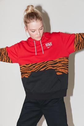 Nike Colorblock Animal Print Hoodie Sweatshirt