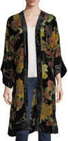 Band of Gypsies Floral Velvet Burnout Duster Cardigan