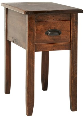 L.L. Bean Rustic Wooden Side Table