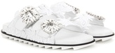 Roger Vivier Slidy Viv leather slip-on sandals