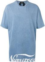 No.21 printed oversized T-shirt - men - Cotton - XS