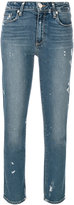 Paige straight cropped jeans - women - Cotton/Polyester/Spandex/Elastane - 26