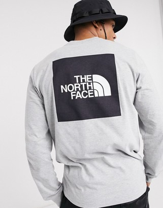 The North Face Red Box long sleeve t-shirt in gray