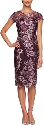 Alex Evenings Embroidered Sheath Dress
