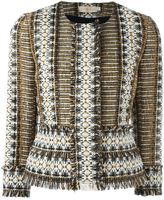 Tory Burch fringed tweed jacket - women - Cotton/Acrylic/Polyamide/other fibers - 0