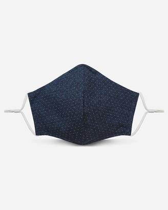 Express Pocket Square Clothing Navy Dot Unity Face Mask