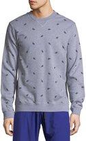 Derek Rose Devon 1 Leaf-Print Cotton Sweatshirt