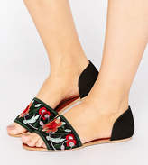 Asos JOSS Wide Fit Embroidered Sandals