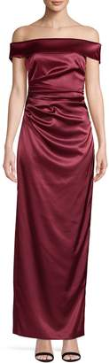 Vince Camuto Off-The-Shoulder Satin Gown