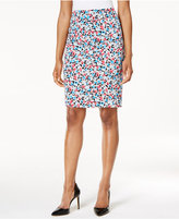 Nine West Floral-Print Pencil Skirt