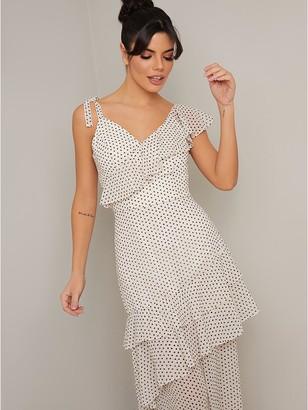 Chi Chi London Imelda Midaxi Dress - Cream