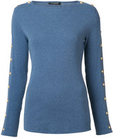 Balmain button embellished top - women - Cotton - 36
