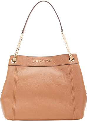 Michael Kors Women's Totebags LUGGAGE - Luggage Jet Set Large Chain-Strap Leather Tote