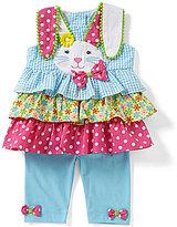 Rare Editions Baby Girls 3-24 Months Easter Bunny Seersucker Dress & Solid Leggings Set