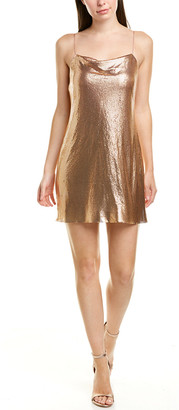 Alice + Olivia Harmony Chainmail & Silk Slip Dress