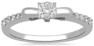 Enchanted Disney Fine Jewelry Diamond Snow White Bow Ring (1/4 ct. t.w.) in 10k White Gold