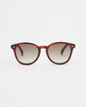 Le Specs Brown Round - Bandwagon - Size One Size at The Iconic