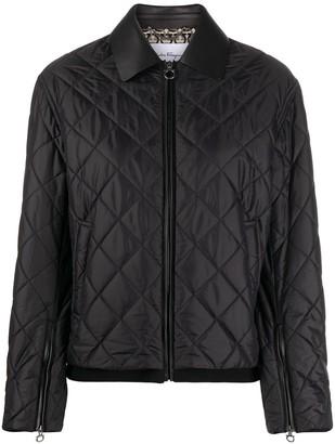 Salvatore Ferragamo Diamond Quilted Jacket