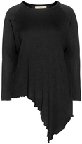 Isolde Roth Plus Size Asymmetric cotton blend sweater