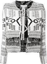 IRO contrast stitch jacket - women - Cotton/Acrylic/Viscose - 34