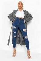 boohoo Frayed Hem Super Distressed Skinny Jean