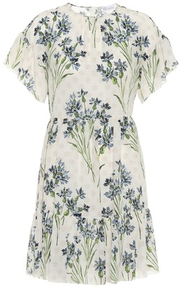 RED Valentino floral silk minidress