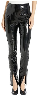 Blank NYC Front Seamed Vinyl Looking Leggings (Dominatrix) Women's Casual Pants