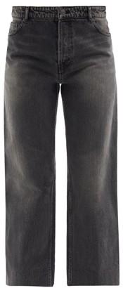 Balenciaga High-rise Cropped Straight-leg Jeans - Black