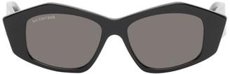 Balenciaga Black Cut Cat-Eye Sunglasses