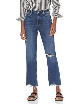 New Look Tall Women's Ta Elliot Rip Harlow Jean Straight,(Manufacturer Size:)